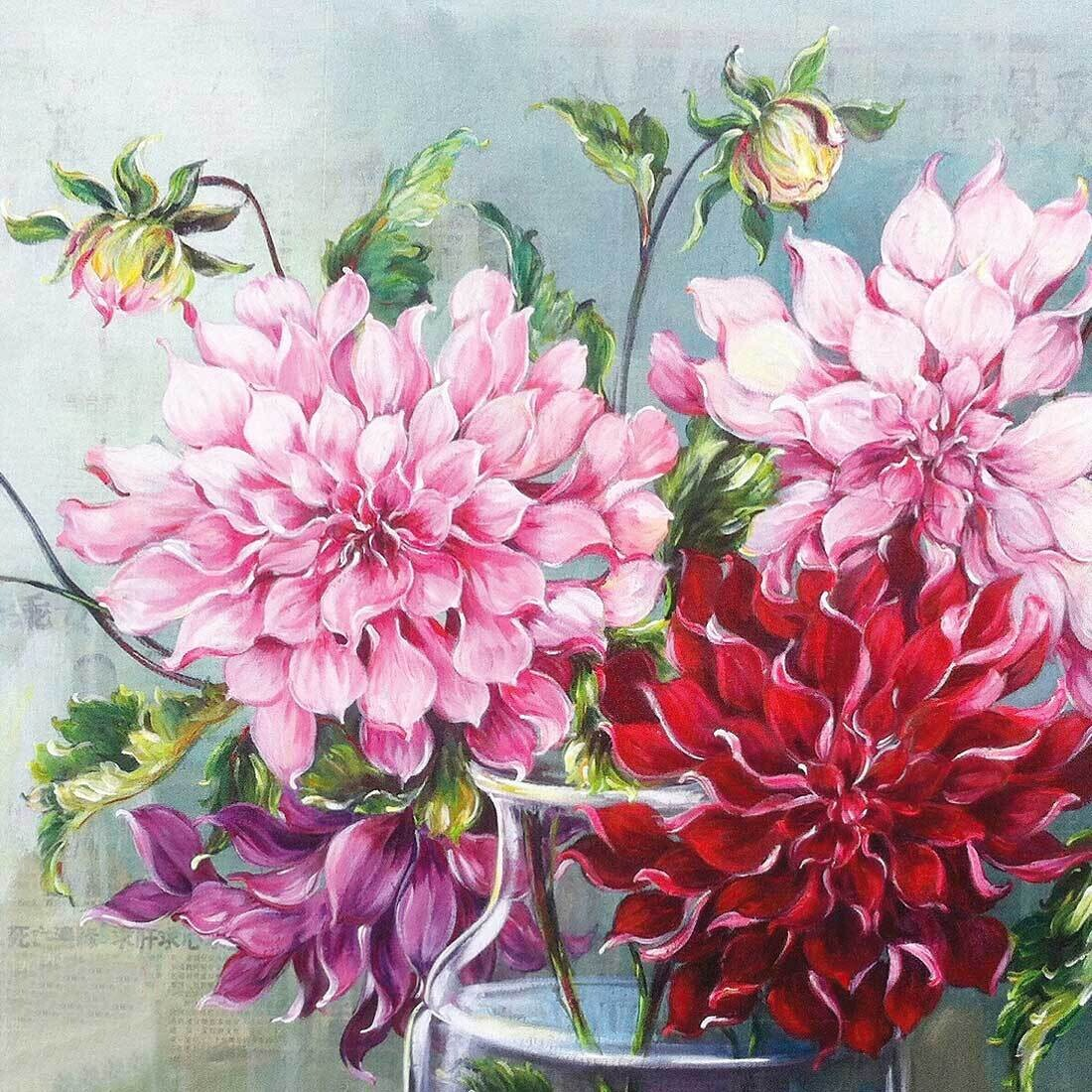 Decoupage Paper Napkins - Floral - Pink Fusion (1 Sheet)