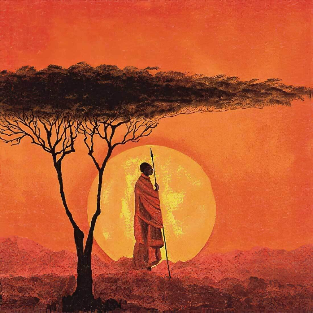 Decoupage Paper Napkins - Scenic - African Sunset (1 Sheet)