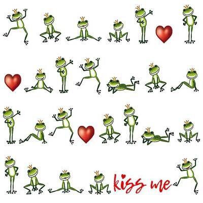 Decoupage Paper Napkins - Animals - Kiss Me Frog (1 Sheet)