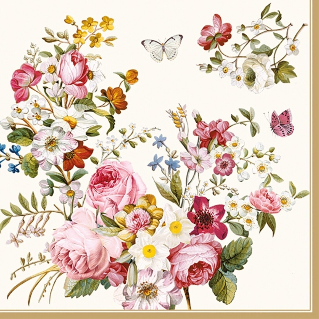 Decoupage Paper Napkins - Floral - Blooming Opulence (1 Sheet)