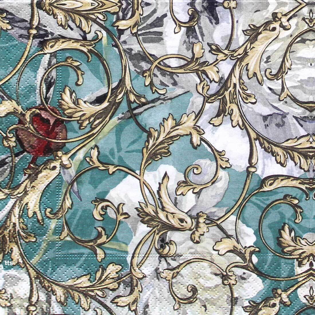Decoupage Paper Napkins - Pattern - Florence (1 Sheet)