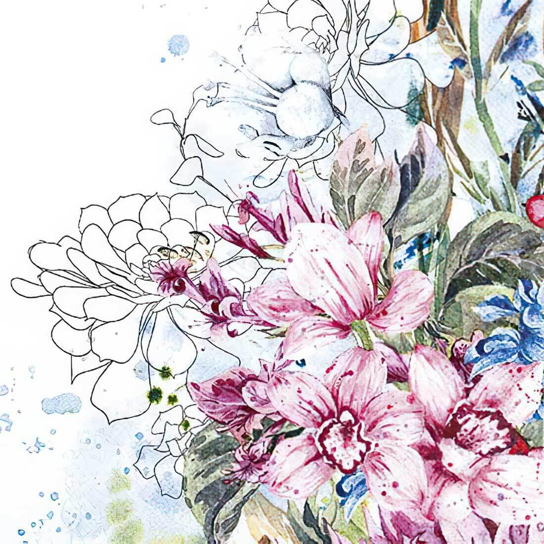 Decoupage Paper Napkins - Floral - Tropical Orchid (1 Sheet)