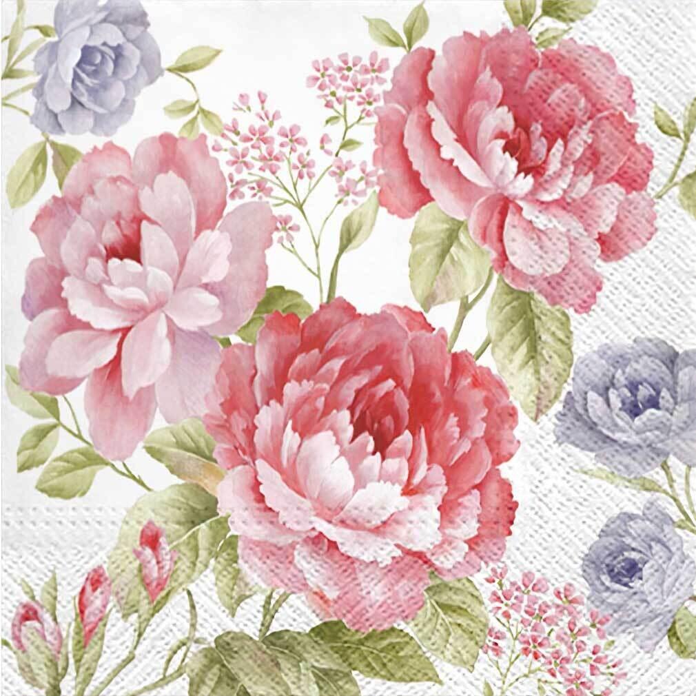 Decoupage Paper Napkins - Floral - Julietta (1 Sheet)