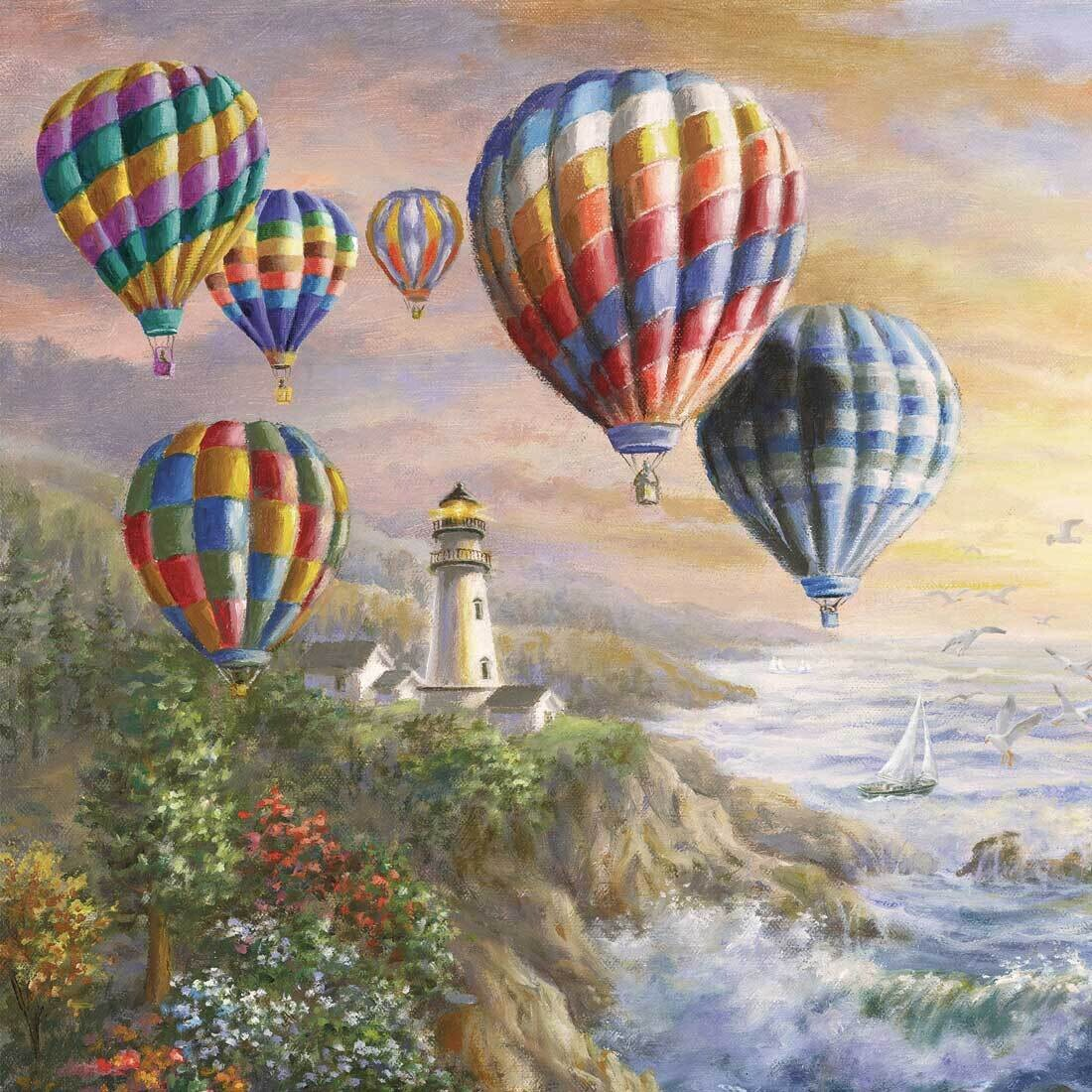 Decoupage Paper Napkins - Outdoor/Scenic - Hot Air Balloons 13x13 (1 Sheet)