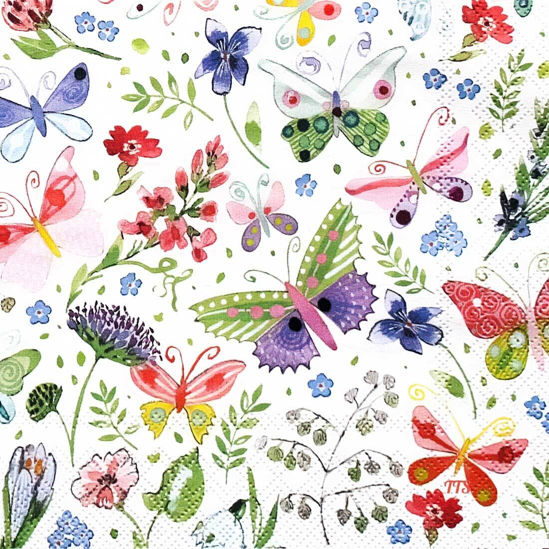 Decoupage Paper Napkins - Butterflies -  Cornelia