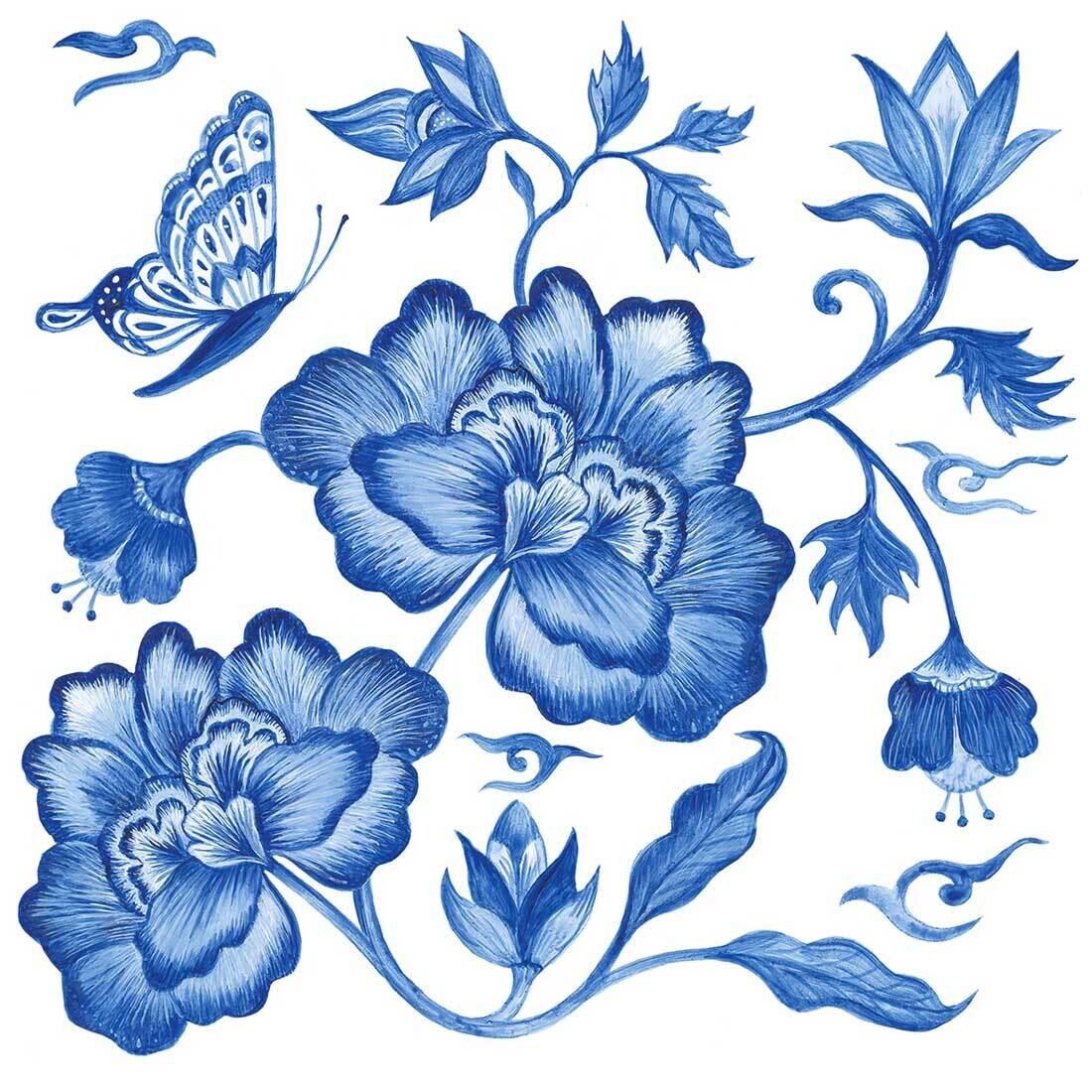 Decoupage Paper Napkins - Floral - Princess Peony (1 Sheet)