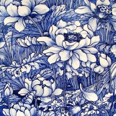 Decoupage Paper Napkins - Floral - Porcelain (1 Sheet)