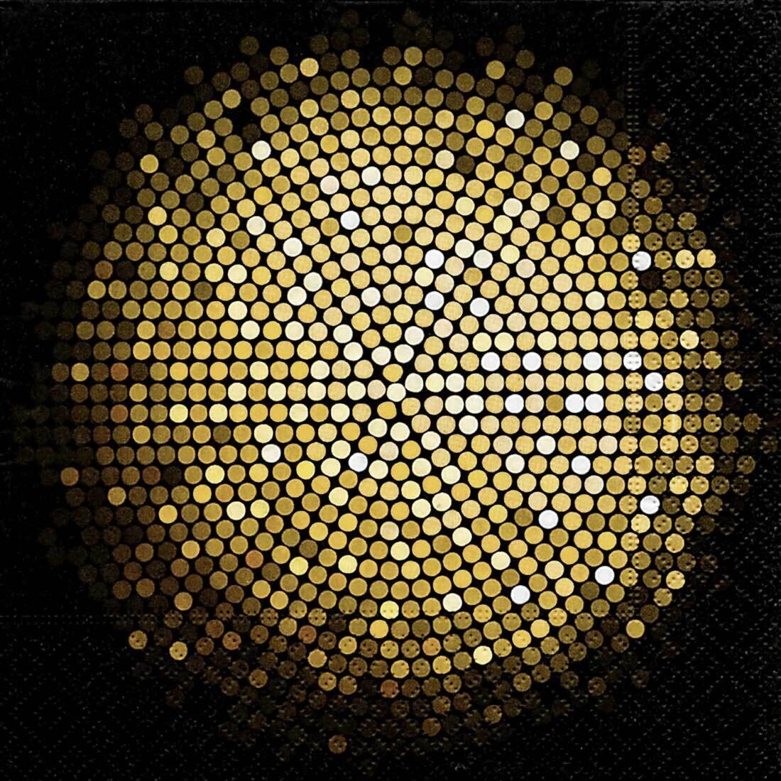Decoupage Paper Napkins - Pattern - Spangle Circle (1 Sheet)