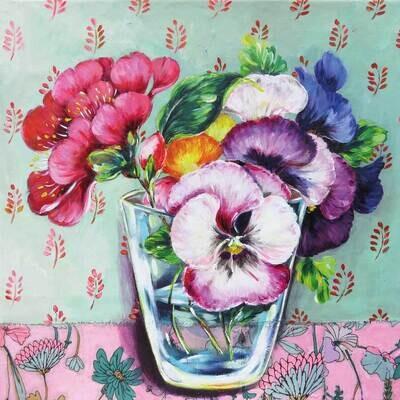 Decoupage Paper Napkins - Floral - Madeleine (1 Sheet)