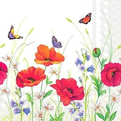 Decoupage Paper Napkins - Butterflies - Summer Meadow (1 Sheet)