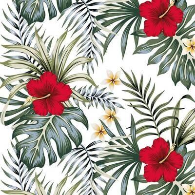 Decoupage Paper Napkins - Floral - Hibiscus (1 Sheet)
