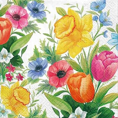 Decoupage Paper Napkins - Floral - Spring Meadow (1 Sheet)