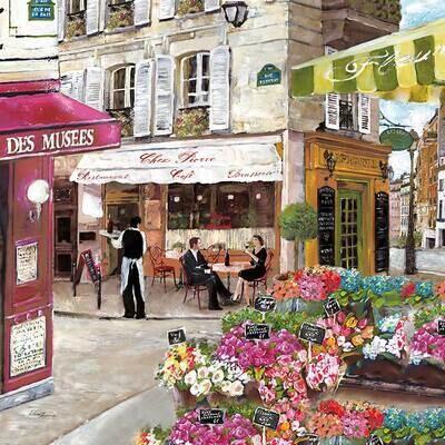 Decoupage Paper Napkins - Outdoor/Scenic - Rues De Paris (1 Sheet)