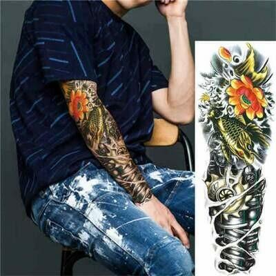 Sticker Tattoos | Full Arm