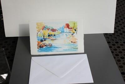 Klappkarte mit Kuvert