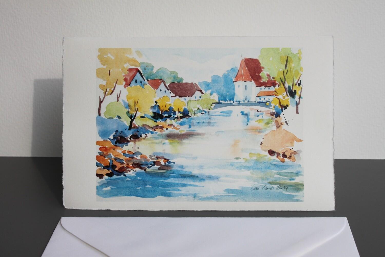 Klappkarte Passau Ilzstadt mit Kuvert