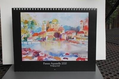 Kalender 2020 mit Passau Aquarellen