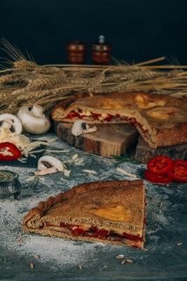 Пицца с грибами (веганская)