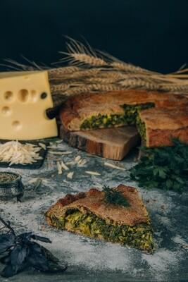 Пирог Зелень с сыром