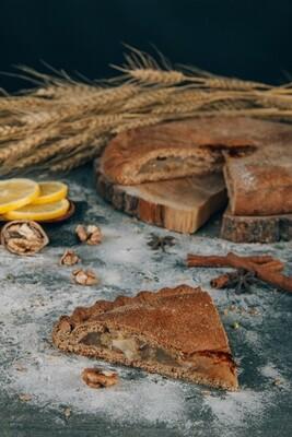 Пирог Лимон с грецким орехом