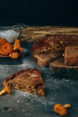 Пирог с лисичками (сезонный)