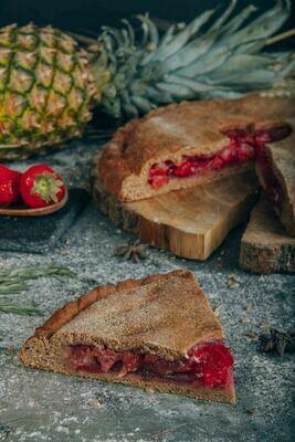 Пирог Клубника и ананас