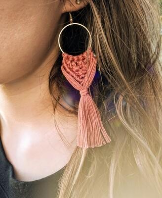 THE JANE AUSTEN design macrame earrings