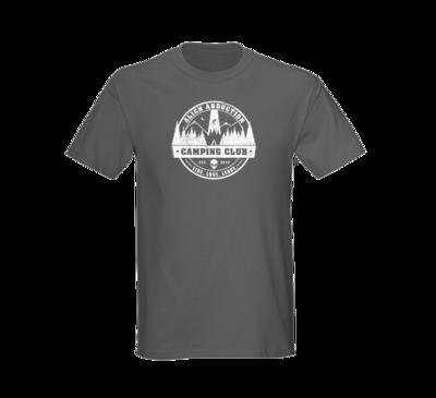 Alien Abduction Camping Club T-Shirt GREY — SCREEN PRINTED