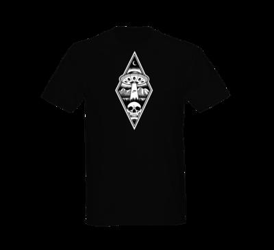 Alien Abduction Camping Club T-Shirt BLACK DIAMOND — SCREEN PRINTED
