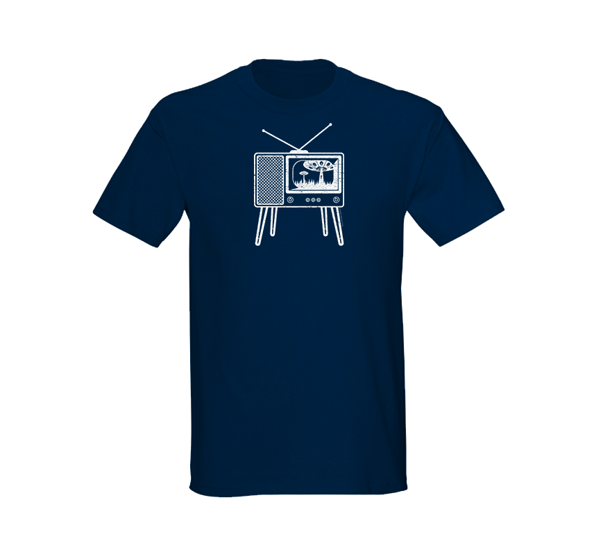 Alien Abduction Camping Club T-Shirt RETRO TV — SCREEN PRINTED