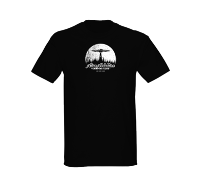 Alien Abduction Camping Club T-Shirt MOON — SCREEN PRINTED