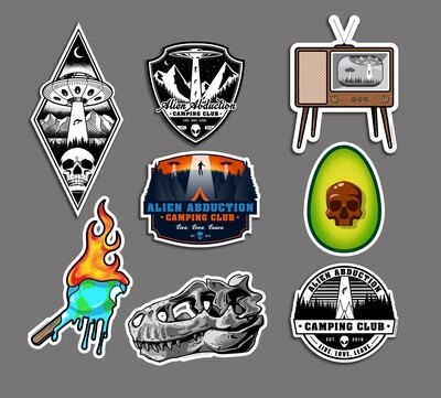 DIE CUT Glossy Laminated Sticker Pack — 8