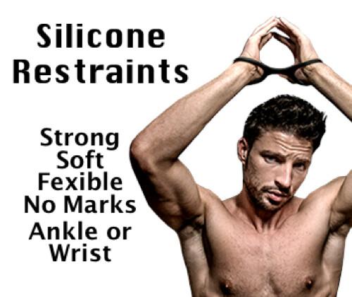 Silicone Handcuff Restraints - Black