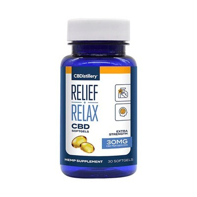 Full-Spectrum Relief and Relax CBD Soft Gels - 30 or 60 ct - Free Shipping!