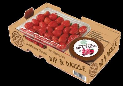 Strawberries & dipping chocolate