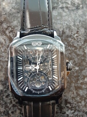 Black Mens Automatic Mechanical Watches Luxury Full Steel Men Gold Skeleton Male S