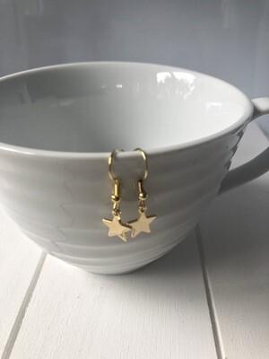 Sterling Silver Gold Filled  Star Earrings