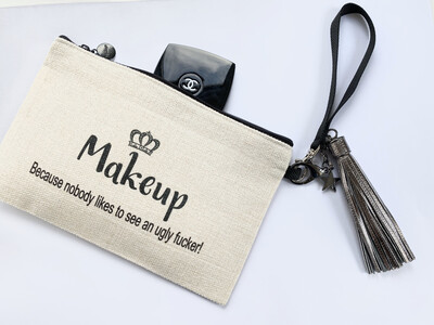 Funny Quote Makeup Bags, Personalised