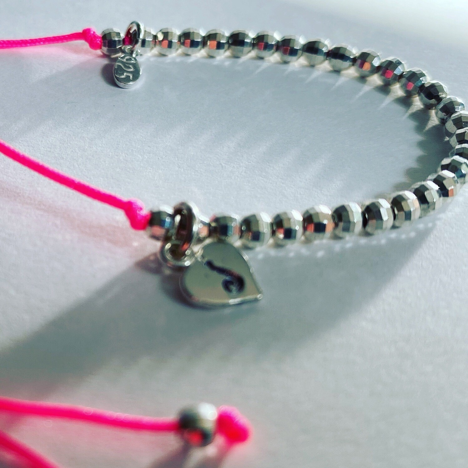 Ankle Bracelet Sterling Silver With Personalised Heart Charm