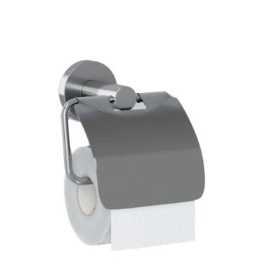 WC-Rollenhalter ECONOM mit Abdeckhaube / Edelstahl matt