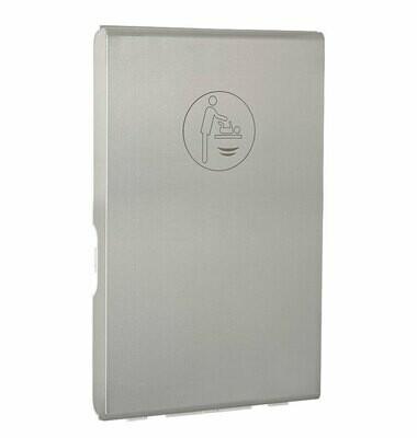Wickeltisch klappbar mit Edelstahlverkleidung / vertikal