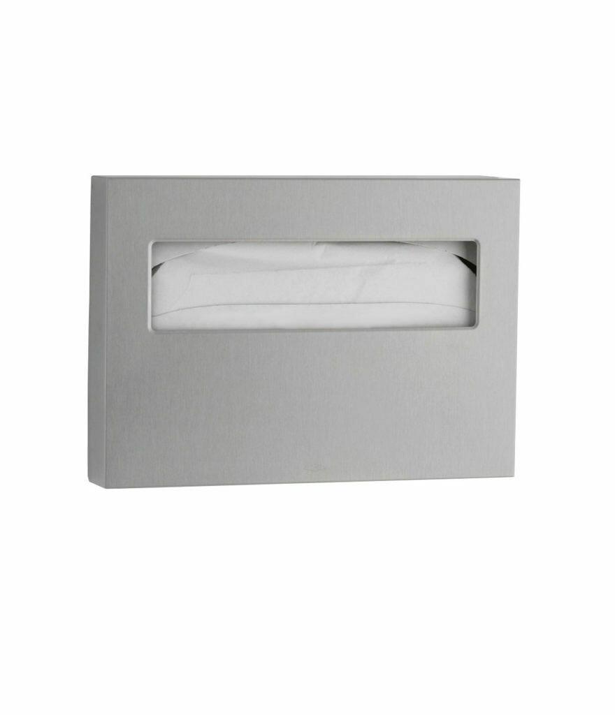 WC-Sitz-Auflagenspender Edelstahl matt