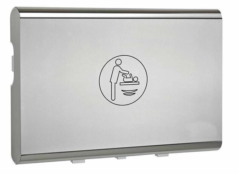 Wickeltisch klappbar mit Edelstahlverkleidung / horizontal