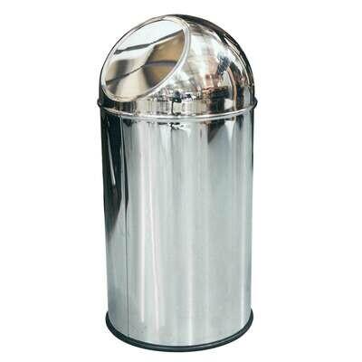 Abfallbehälter freistehend aus Edelstahl / ca. 35 Liter