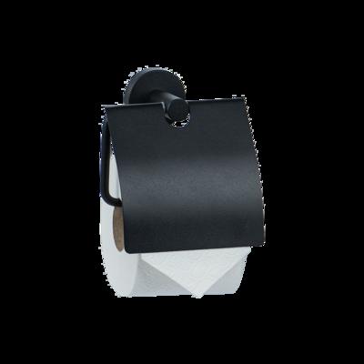 WC-Rollenhalter mit Haube / schwarz oder weiss matt beschichtet