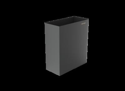 Abfallbehälter schwarz beschichtet / ca. 24 Liter