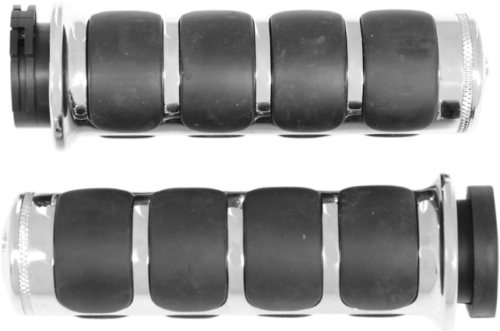 Kuryakyn Chrome ISO-Grips Electronic Throttle, 08-Up Harley FLT (6227, 0630-0452)