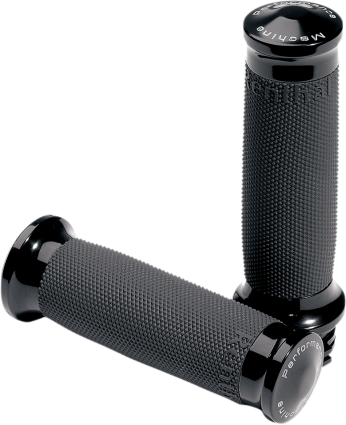 Performance Machine Black Contour Renthal Wrapped Grips (0063-2007-B, 0630-0375)