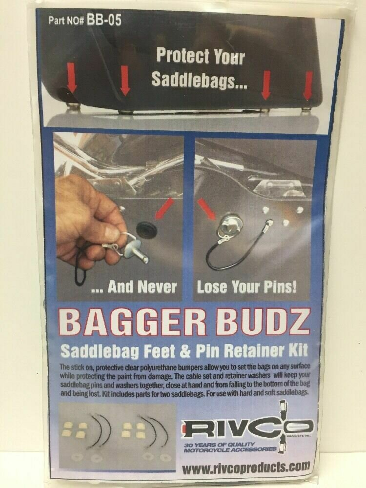 Rivco Bagger Budz Saddlebag Feet & Pin Retainer Kit (BB-05, 3501-0818)