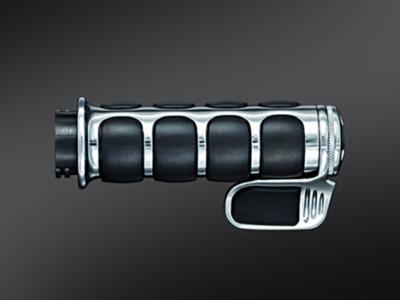 Kuryakyn Chrome ISO-Grips Cable w/Throttle Boss, 82-Up Harley (6342, 0630-1474)